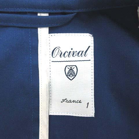 オーチバル ORCIVAL オーシバル スプリングコート ショート フード 1 青 ブルー /MF26 メンズ