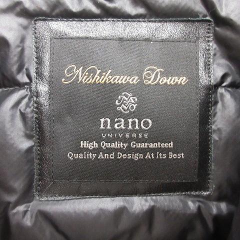 ナノユニバース nano universe 18AW コート ステンカラー ダウンライナー 西川ダウン Nishikawa チェック柄 ウール L チャコールグレー /YT メンズ