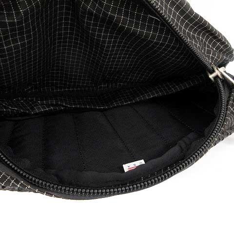 グレゴリー GREGORY ボディバッグ ウエストポーチ チェック テールメイト USA製 黒 ブラック 白 /YM メンズ