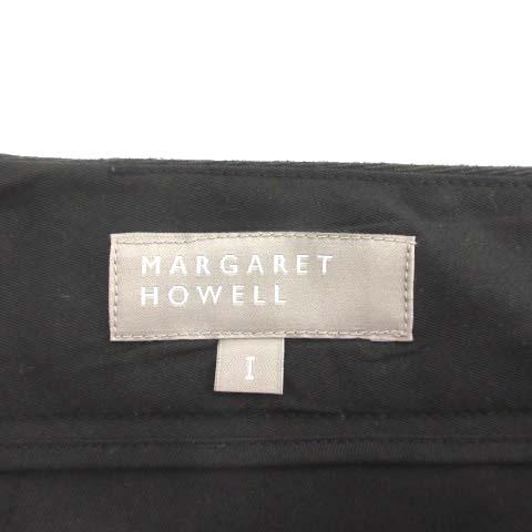 マーガレットハウエル MARGARET HOWELL ワイドパンツ クロップド ウール 1 黒 ブラック /TK レディース