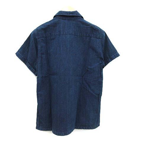 ビズビム VISVIM 16SS シャツ IRVING SHIRT S/S デニム 半袖 2 インディゴ /KH メンズ