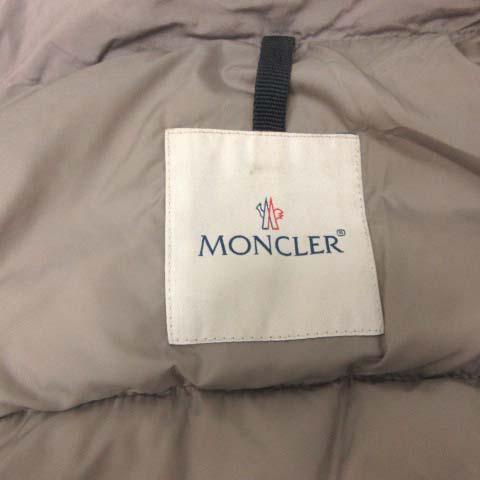 モンクレール MONCLER 0 XS ガルベ GARBET ダウンコート キルティング アウター ダブル ミドル丈 グレー /EK レディース