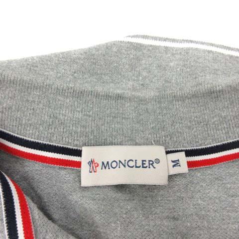 モンクレール MONCLER MAGLIA POLO MANICA CORTA ポロシャツ 半袖 鹿の子 M グレー /PJ メンズ