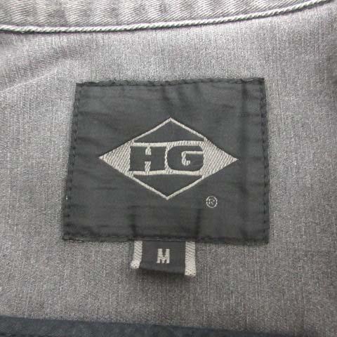 ヒステリックグラマー HYSTERIC GLAMOUR HG M オールインワン つなぎ サロペット ジャンプスーツ オーバーオール バックプリント ロゴ 長袖 グレー /TK メンズ