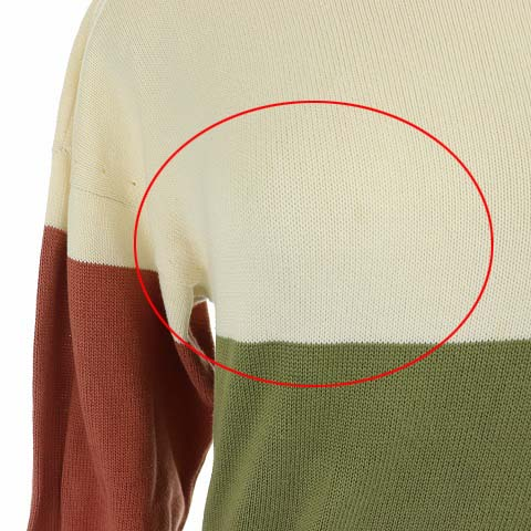 シャネル CHANEL ニット セーター 長袖 ヴィンテージ ココマーク 金ボタン 刺繍 マルチカラー /NM レディース