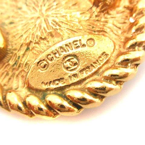 シャネル CHANEL ヴィンテージ ココマーク フェイクパール イヤリング クリップ式 ゴールド色 ホワイト 白 /KH ●D レディース