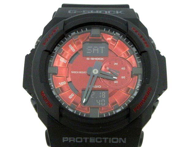 official photos 28048 88642 カシオジーショック CASIO G-SHOCK 腕時計 メタリックダイアルシリーズ アナデジ 5255 GA-150MF 黒 赤 /YM897 メンズ