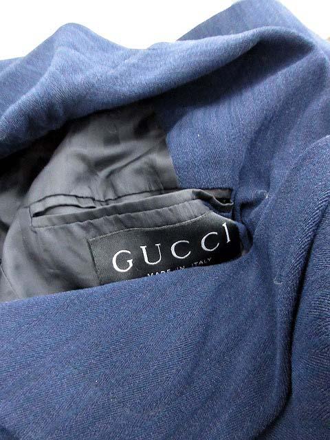 3312e3661d02 ... グッチ GUCCI スーツ セットアップ 上下 ジャケット パンツ ダブル 40 紺 /KH レディース