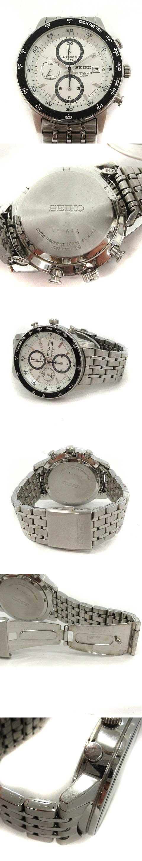 腕時計 クォーツ クロノグラフ シルバー 黒 7T92-0HL0 /YM