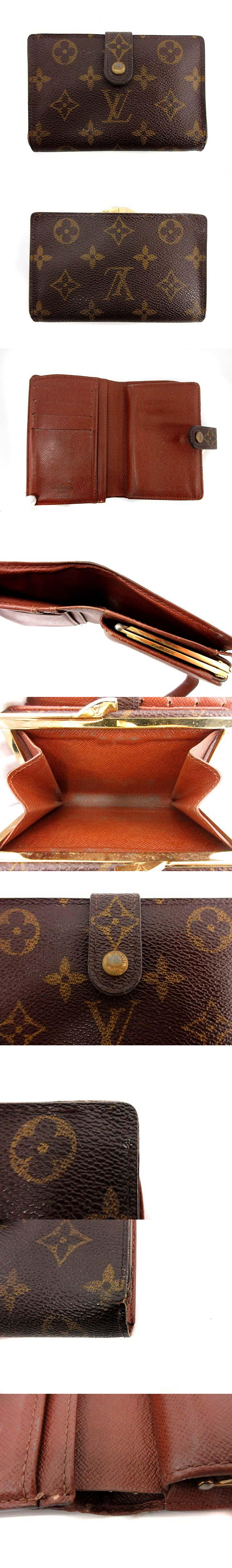 二つ折り財布 がま口 ポルトモネビエ ヴィエノワ モノグラム 茶 M61663 /☆Q6■SB