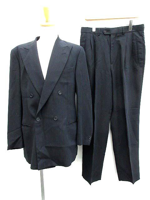 new style 42af8 b9c66 エンポリオアルマーニ EMPORIO ARMANI スーツ セットアップ 上下 ジャケット パンツ ダブル 50 紺 /KH メンズ