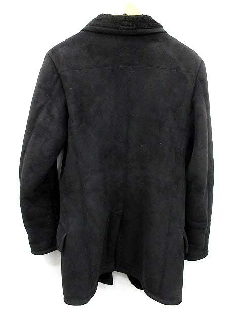 finest selection ab9c9 4fc38 エンポリオアルマーニ EMPORIO ARMANI コート フェイクムートン ロング 黒 /KH ●D メンズ