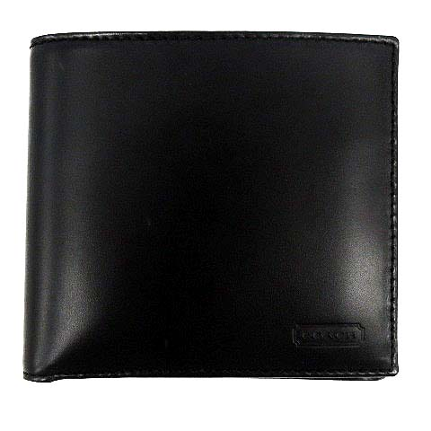 uk availability ea3ed 1dd0f コーチ COACH 財布 二つ折り レザー 黒 /☆K メンズ
