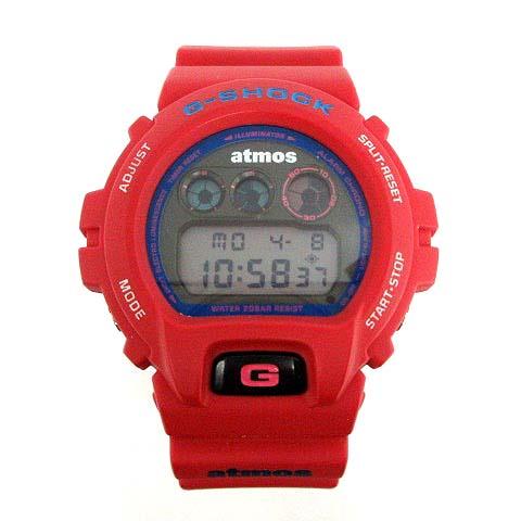 hot sale online 3d214 af76e ジーショック G-SHOCK atmos 腕時計 赤 DW-6900FS /☆Q3 メンズ
