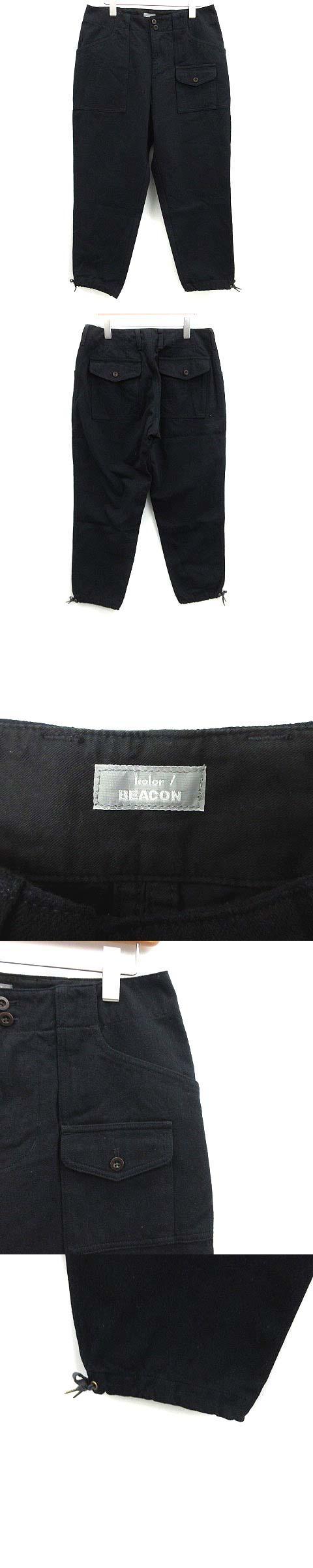 BEACON パンツ ウール混 2 紺 ネイビー /KH