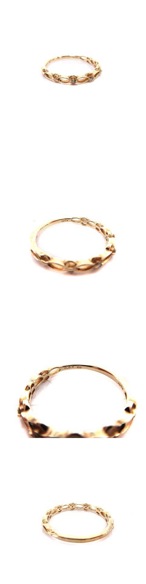 リング 指輪 K10 イエローゴールド ダイヤ 0.02ct  /☆G