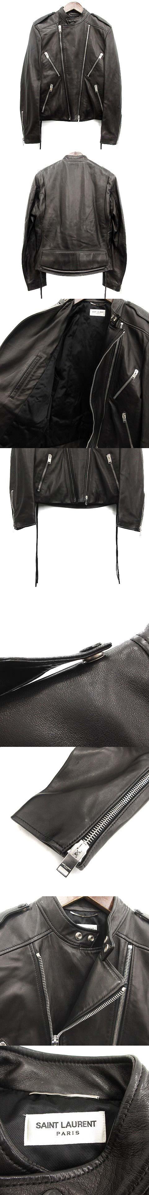 13SS ライダースジャケット ラムレザー 黒 ブラック 320985 /TU