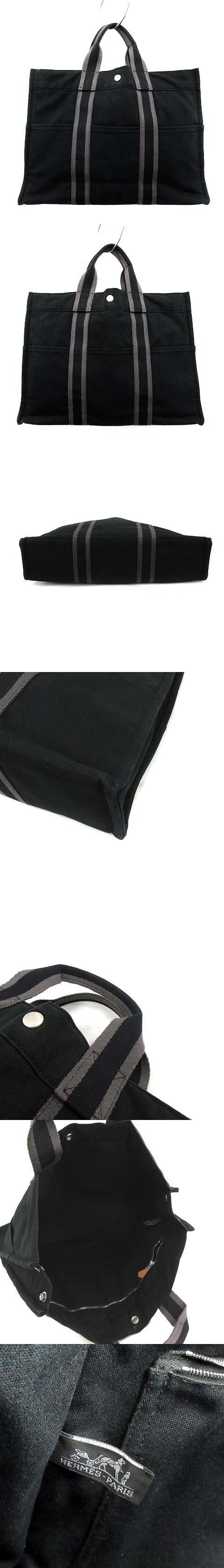 トートバッグ ハンド フールトゥMM キャンバス 黒 ブラック /KH ●D