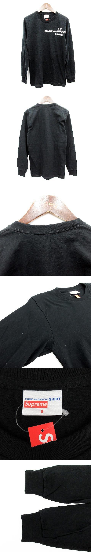 コムデギャルソン COMME des GARCONS Tシャツ ロンT 長袖 ラウンドネック S 黒 ブラック /YT
