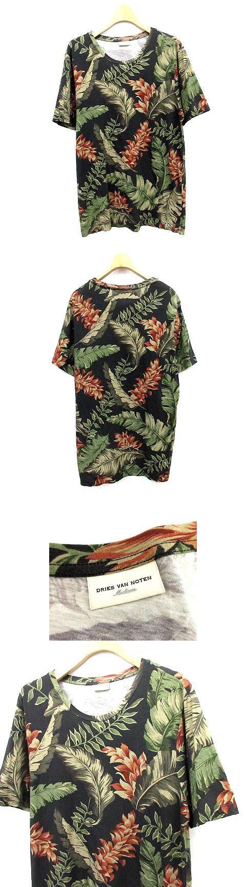 Tシャツ 半袖 カットソー ボタニカル M 黒  /☆G