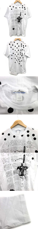 JEAN MICHEL BASQUIAT 18AW バスキアTシャツ カットソー 半袖 プリント L 白 ホワイト /KH
