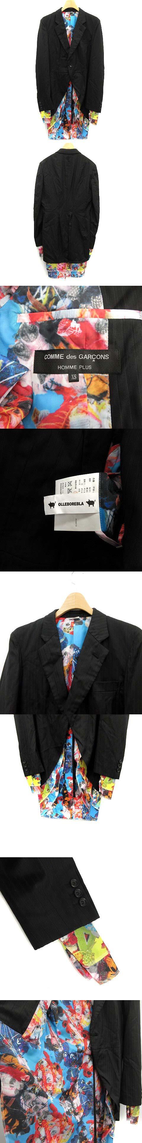 OLLEBOREBLA ジャケット テーラード フェイクレイヤード XS 黒 /KH