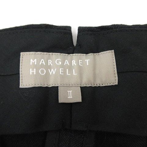 マーガレットハウエル MARGARET HOWELL パンツ テーパード リネン混 麻混 2 黒 ブラック /AD26 レディース