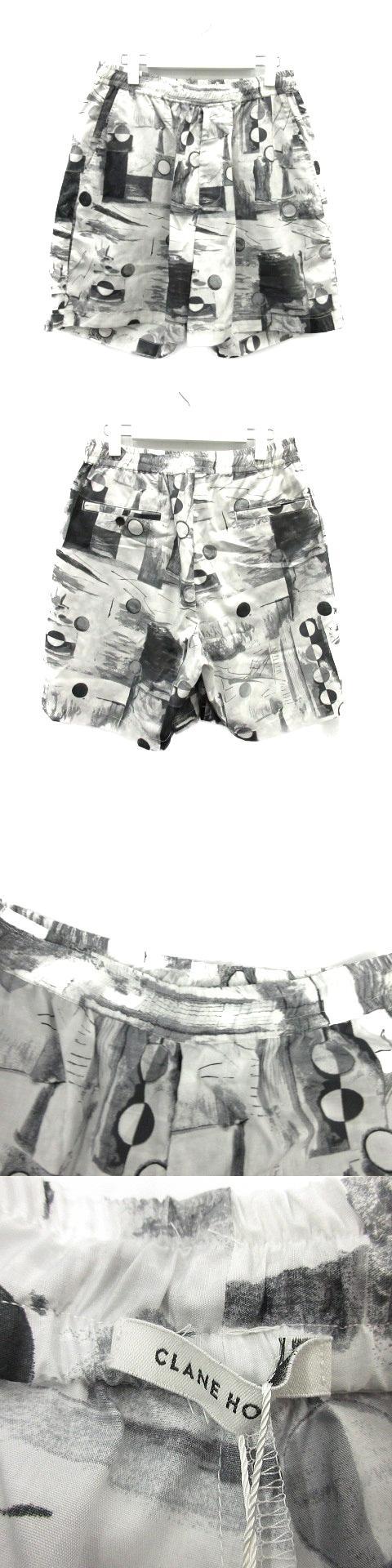 PAINTING ART SHORT PT パンツ ハーフ ショート 総柄 2 黒 白 /MR ▲H