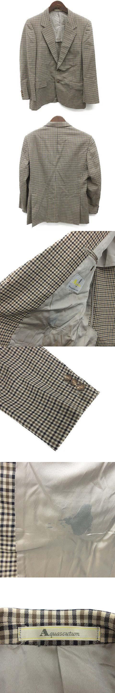 テーラードジャケット チェック 96AB5 ベージュ カーキ 紺 /OG28 ▲H ■CA27