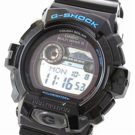 brand new 73b9b bebe5 カシオジーショック CASIO G-SHOCK 美品 腕時計 G-LIDE Gライド GWX-8900-1JF 電波 ソーラー ブラック 箱付き メンズ