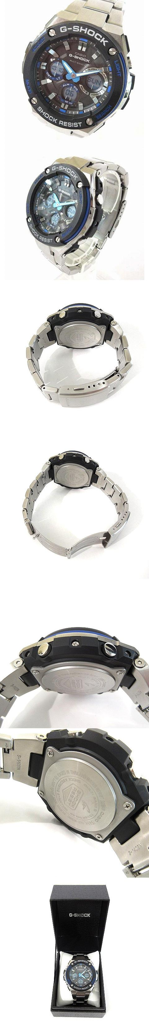 腕時計 Gスチール G-STEEL 電波 タフソーラー GST-W100D-1A2JF シルバー