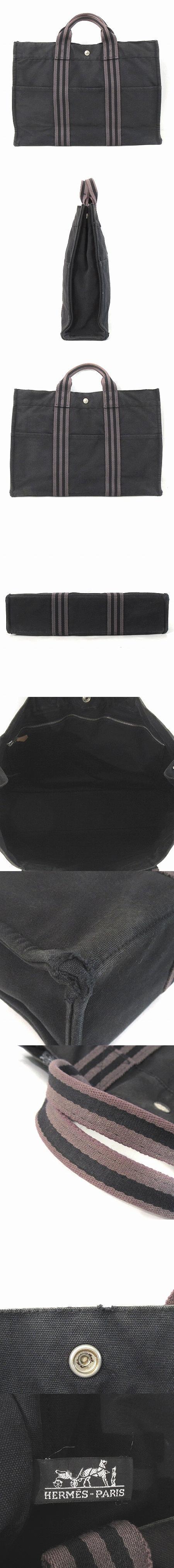 エールライン トート MM ハンド バッグ キャンバス グレー 鞄 IBS7
