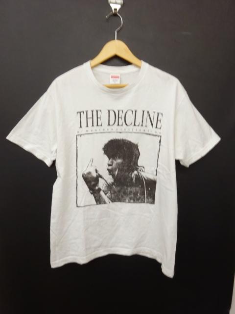 シュプリーム SUPREME 17AW Decline of Western Civilization Tシャツ M 白 ホワイト 綿 コットン アメリカ製 半袖 英字+フォトプリント 丸首 クルーネック カットソー トップス カジュアル メンズ
