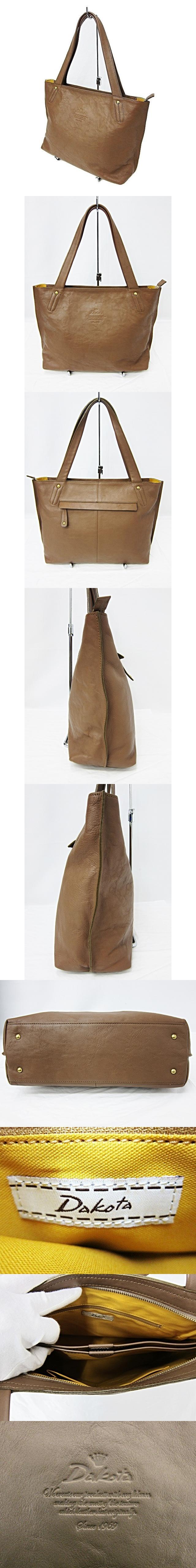 レザートートバッグ 茶 ブラウン ロゴ型押し 牛革 日本製 鞄 かばん ハンド