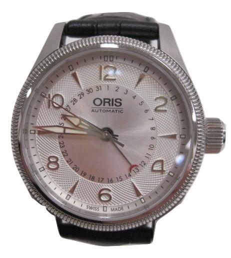 outlet store 35a6d 0c3f7 オリス ORIS 腕時計 01 754 7679 4061 ビッグクラウン 自動巻 革ベルト 裏スケ 箱付 メンズ