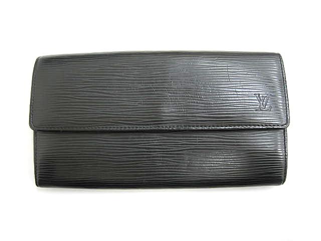 buy online e0b93 25fdc ルイヴィトン LOUIS VUITTON エピ ポルトフォイユ・サラ M63742 ブラック 黒 長財布 ノワール