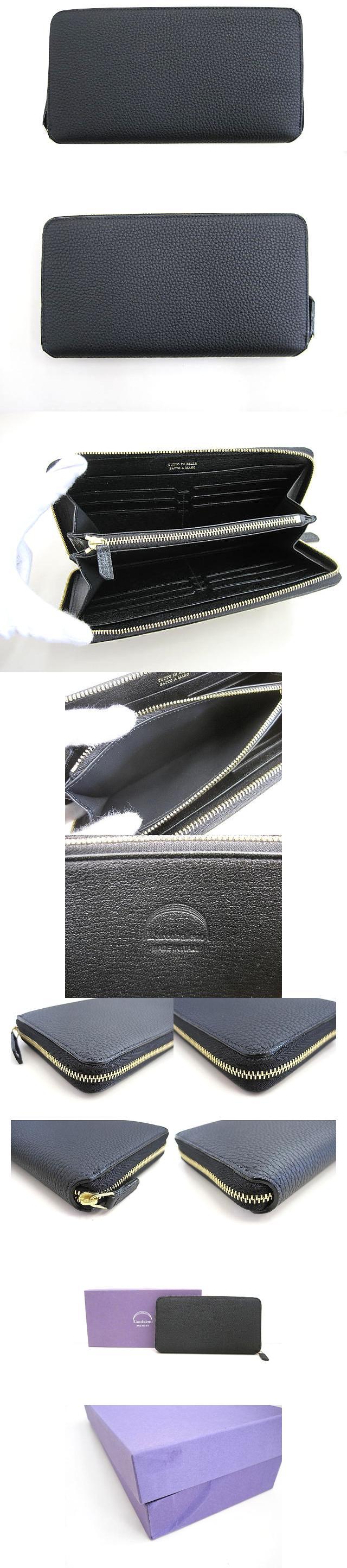 ラルコバレーノ L'arcobaleno ラウンドジップ 長財布 ブラック 黒 レザー ウォレット 箱付 極美品