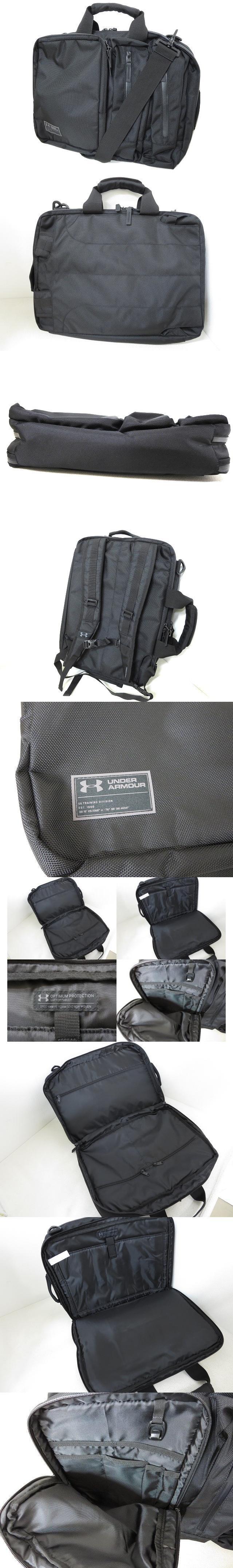 UA 3way ビジネスバッグ リュックサック 黒 美品 1319713 ショルダー ブリーフケース かばん 鞄