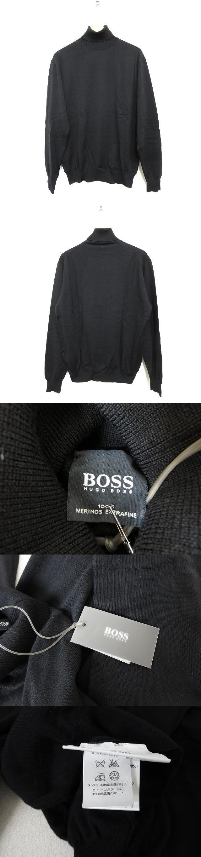 ウール100% タートルネック ニットセーター 黒 46 国内正規品 ブラック ニットカットソー