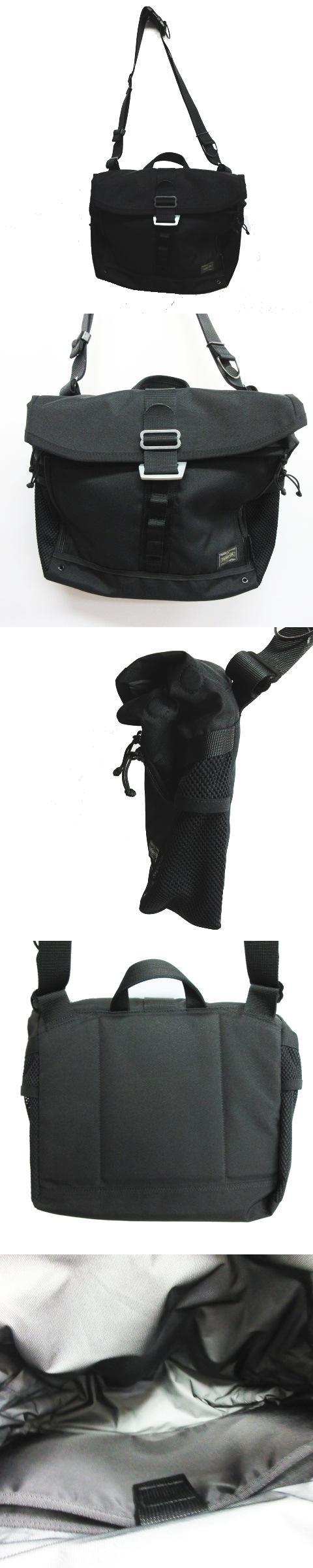 コーデュラ ナイロン ショルダーバッグ 斜め掛け 黒 ブラック