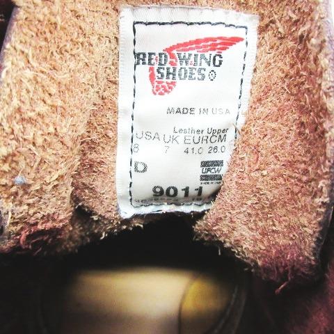レッドウィング REDWING ベックマン ワークブーツ シューズ 9011 サイズ8D 赤茶色  メンズ
