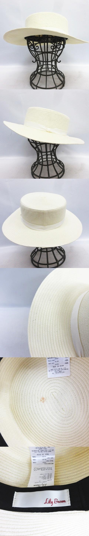チュール付 カンカン帽 麦わら帽子 ペーパーハット 白 ホワイト LWGH161335