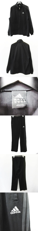 ジャージ トラックジャケット パンツ セットアップ 上下 サイドライン ブラック サイズL JD2002 〇7