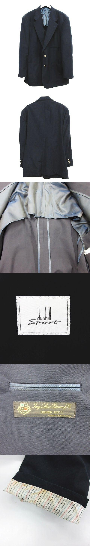 Sport テーラード ジャケット ブレザー 2B 背抜き ノーベント SUPER 120'S ネイビー