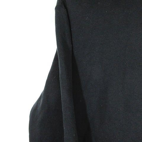 ビズビム VISVIM ロゴ プルオーバー パーカー カットソー トップス サイズS 黒 ブラック  メンズ