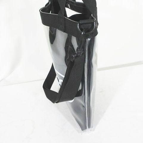 アウトドアプロダクツ OUTDOOR PRODUCTS クリア トートバッグ ロゴ 2WAY ショルダーバッグ 黒 ブラック メンズ レディース