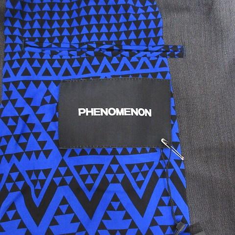 フェノメノン phenomenon ベスト ジレ チョッキ ウール シルク混 背抜き 無地 38 M 黒系 ブラック系 メンズ
