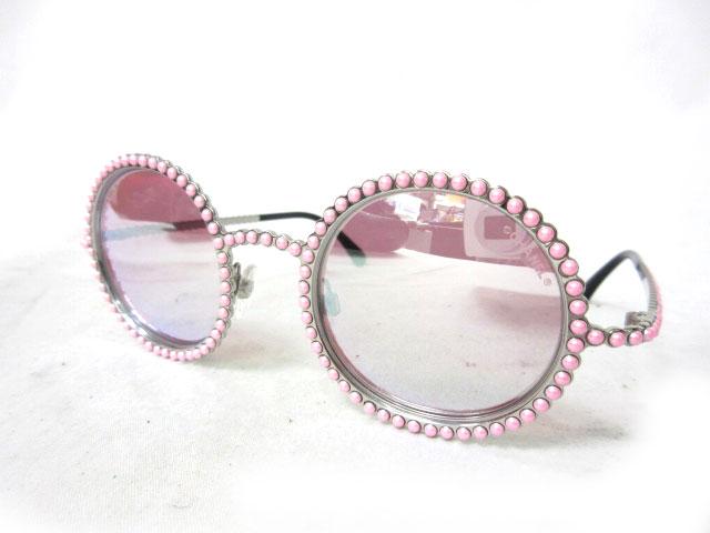 16e50bba0eba シャネル CHANEL サングラス ラウンド 16C ファンタジー パール サークル ミラー ピンク シルバー L2273 metal  metallic fantasy pearl