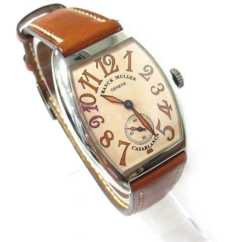 super popular d5011 2651a フランクミュラー FRANCK MULLER 腕時計 カサブランカ サハラ 7502 CASA 自動巻き 革ベルト ギャランティー レザーケース付き  0330 メンズ