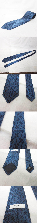 美品 ネクタイ ひし形 総柄 ブルー ネイビー 0915